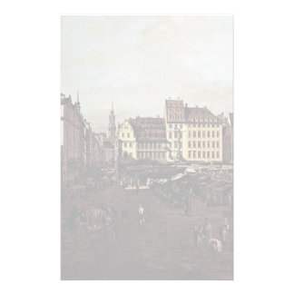 View Of Dresden, The Old Market Square Customized Stationery