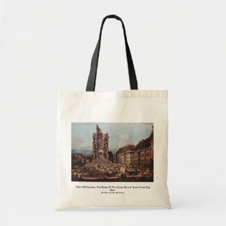 View Of Dresden, The Ruins Of The Cross Church See Bag