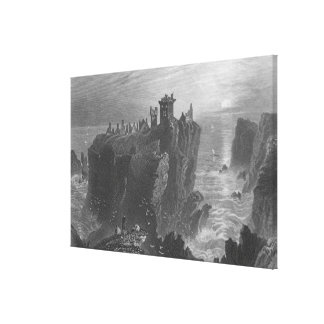View of Dunottar Castle, near Stonehaven Stretched Canvas Print