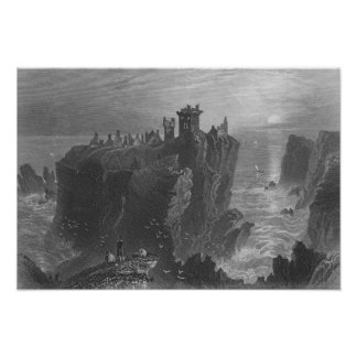 View of Dunottar Castle, near Stonehaven Posters