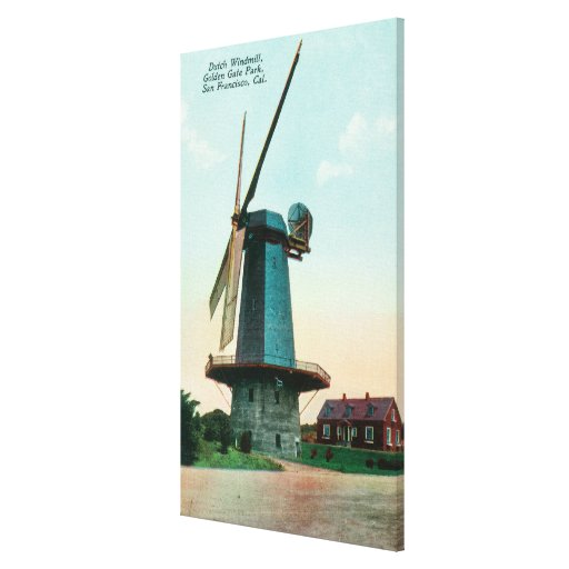View of Dutch Windmill at Golden Gate Park Stretched Canvas Print