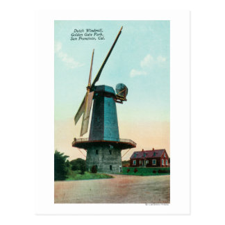 View of Dutch Windmill at Golden Gate Park Postcard