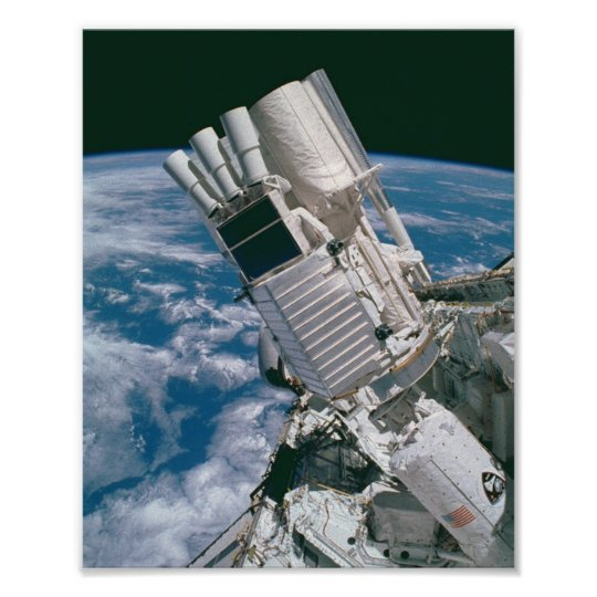 View of Earth and Payload aboard Shuttle Columbia Poster