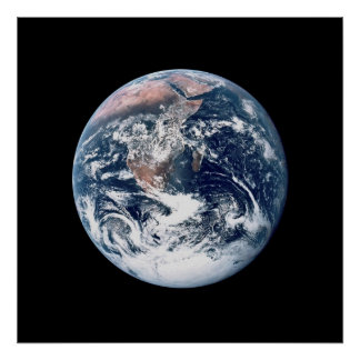 View of Earth from Apollo 17 Poster