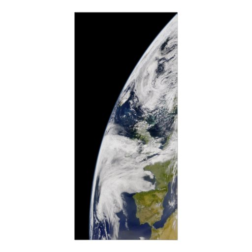 View of Earth from space Poster