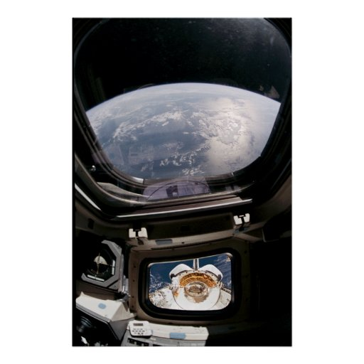 View of Earth from Space Shuttle Discovery Poster
