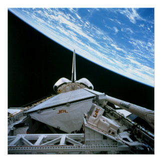 View of Earth from Space Shuttle Endeavour Print