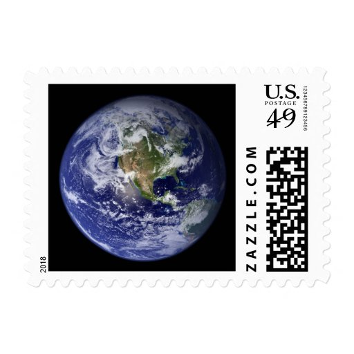 View of Earth from Space [Western Hemisphere] Postage Stamp