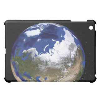 View of Earth showing the Arctic region iPad Mini Cases