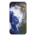 View of Earth showing the Arctic region Covers For iPhone 4