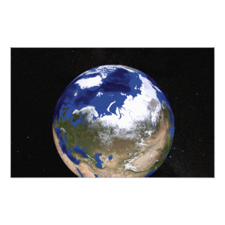 View of Earth showing the Arctic region Photo Print