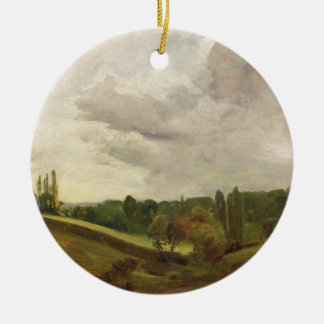 View of East Bergholt, c.1813 (oil on canvas) Ceramic Ornament