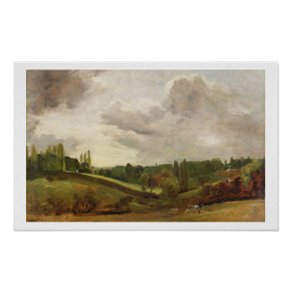 View of East Bergholt, c.1813 (oil on canvas) Poster