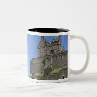 View of Edinburgh Castle, Edinburgh, Scotland, 2 Two-Tone Coffee Mug