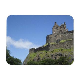View of Edinburgh Castle, Edinburgh, Scotland, 2 Rectangle Magnets