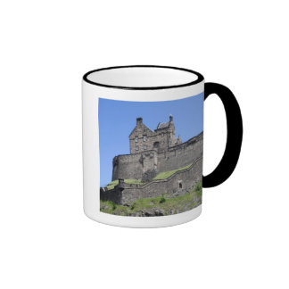 View of Edinburgh Castle, Edinburgh, Scotland, Ringer Coffee Mug