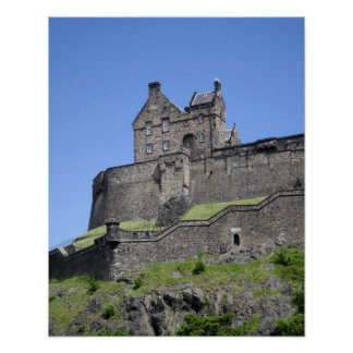 View of Edinburgh Castle, Edinburgh, Scotland, Poster