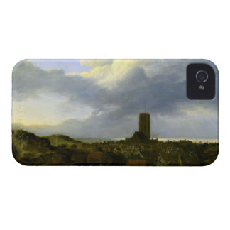 View of egmond by Jacob Ruisdael iPhone 4 Covers