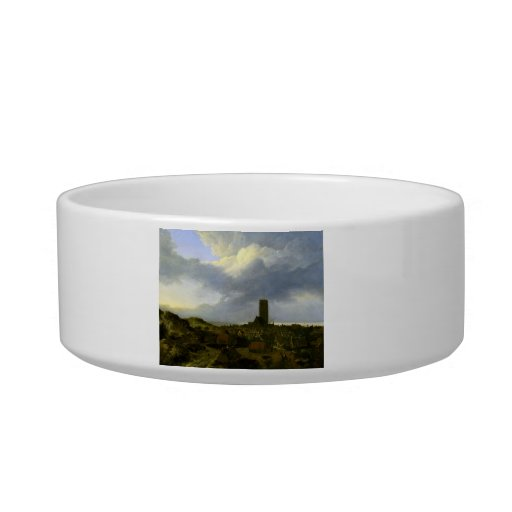 View of egmond by Jacob Ruisdael Cat Food Bowls