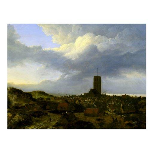 View of egmond by Jacob Ruisdael Postcard