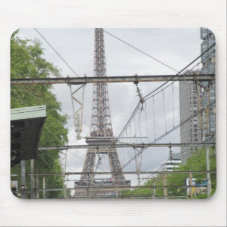 View of Eiffel Tower from Train Station, Paris Mouse Pad