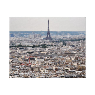 View of Eiffel Tower rising over Paris Canvas Print