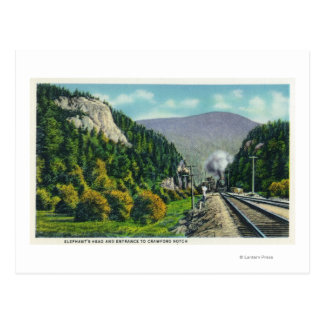 View of Elephant's Head & Crawford Notch Entranc Postcard