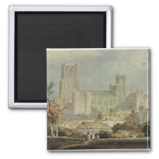 View of Ely Cathedral (pencil & w/c on paper) Magnet