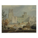 View of Ely Cathedral (pencil & w/c on paper) Posters
