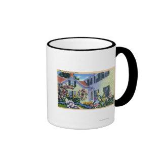 View of Emily Post Residence Ringer Coffee Mug