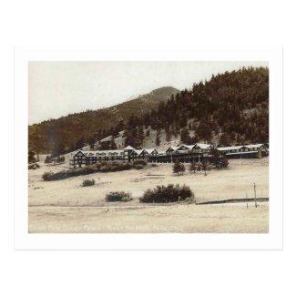 View of Estes Park Chalet Lodge Colorado Vintage Postcard