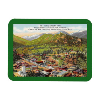 View of Estes Park Colorado Vintage Magnet