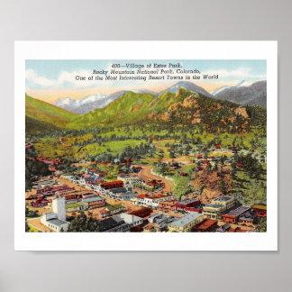 View of Estes Park Colorado Vintage Poster