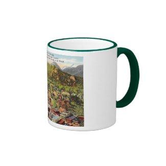 View of Estes Park Colorado Vintage Ringer Coffee Mug
