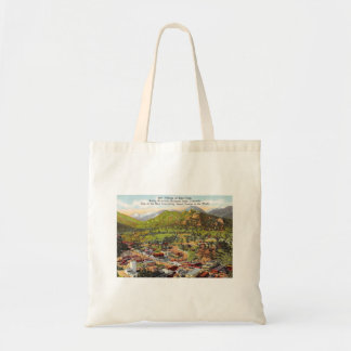 View of Estes Park Colorado Vintage Tote Bag