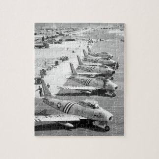 View of F-86 airplanes on the flight_War Image Jigsaw Puzzle