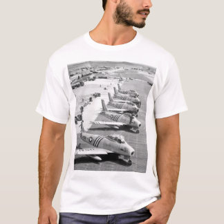View of F-86 airplanes on the flight_War Image T-Shirt