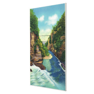 View of Fall Creek Gorge Canvas Print