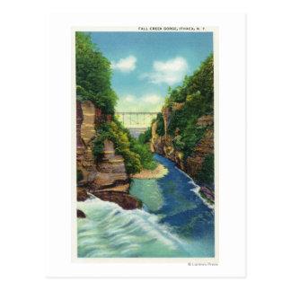 View of Fall Creek Gorge Postcard