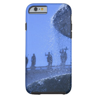 view of falling fountain waters near saint tough iPhone 6 case