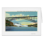 View of Falls View Bridge before Collapse Greeting Card