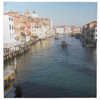 View of famous Grand Canal in Venice, Italy Napkin