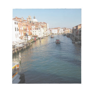 View of famous Grand Canal in Venice, Italy Notepad