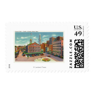 View of Faneuil Hall, the Cradle of Liberty Postage