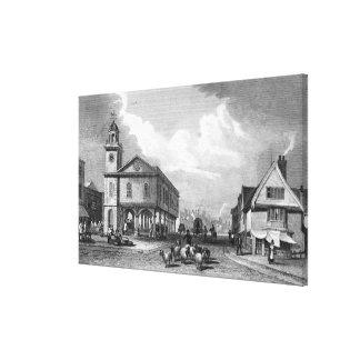 View of Faversham, Kent, 1832 Canvas Print