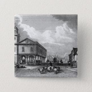 View of Faversham, Kent, 1832 Pinback Button