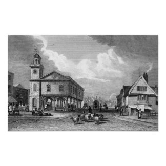 View of Faversham, Kent, 1832 Poster
