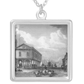 View of Faversham, Kent, 1832 Silver Plated Necklace
