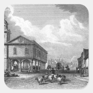 View of Faversham, Kent, 1832 Square Sticker