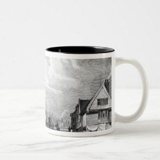 View of Faversham, Kent, 1832 Two-Tone Coffee Mug